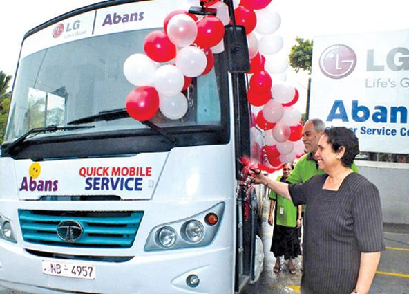 LG - Abans Quick Mobile Service Bus was formally launched by Mrs. Aban Pestonjee, Chairperson of Abans Group at Abans Service Centre in Wellawatte.